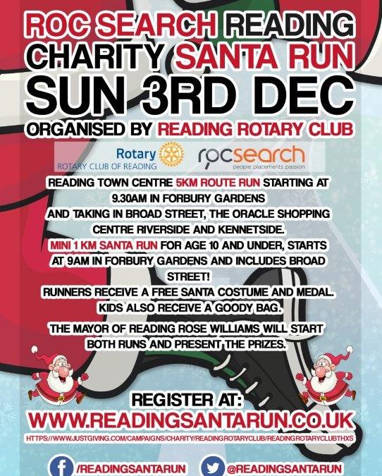 ROC Search Reading Santa Run – No5 named as an official charity!