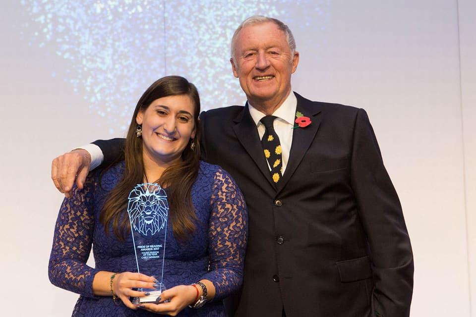 No5 Lead Young Ambassador wins Pride of Reading Award!
