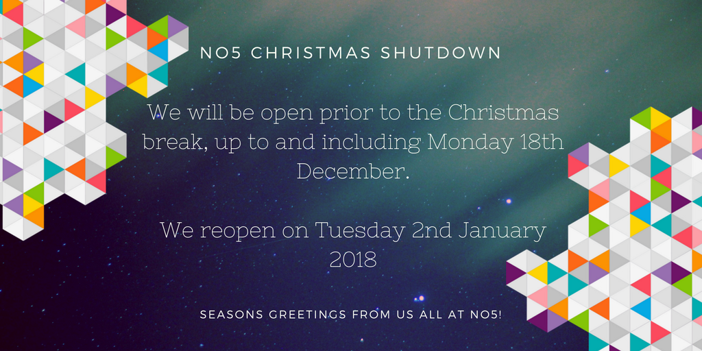 No5 Christmas closure