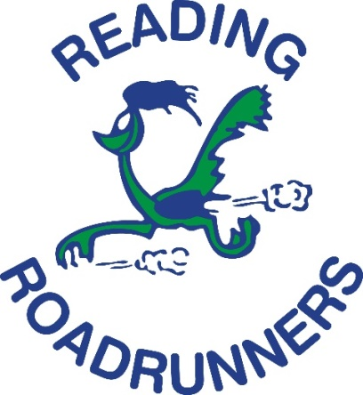 No5 chosen as Reading Roadrunners' Charity of the Year 2018!