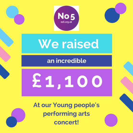 Fundraising news from our Young People's Performing Arts Concert