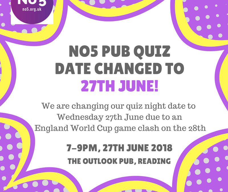 Pub quiz date change to 27th June!