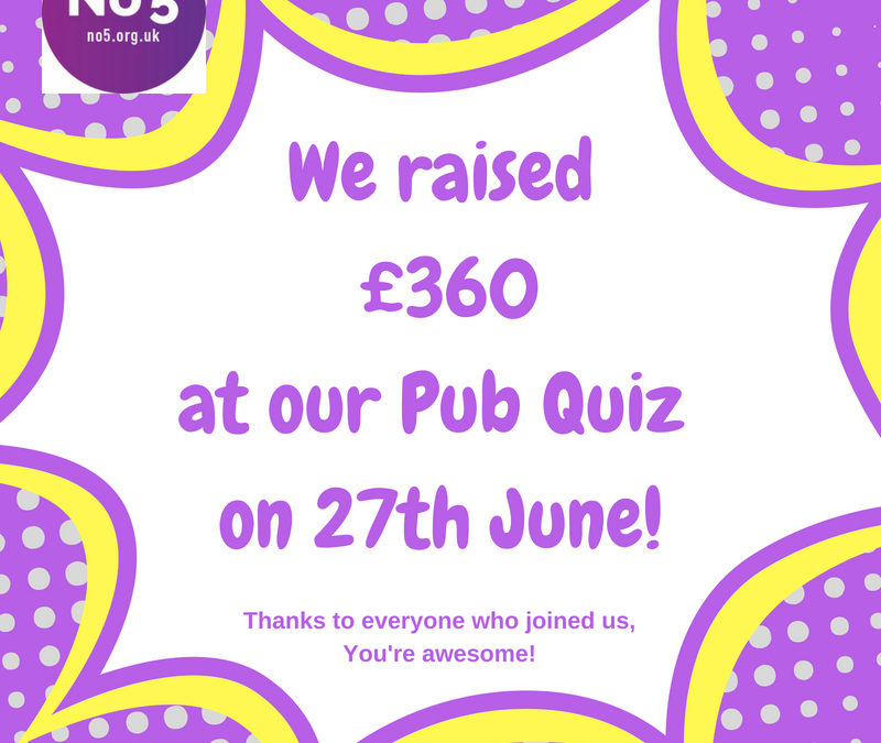 Fundraising news from our Pub Quiz
