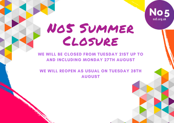 No5 Summer Closure