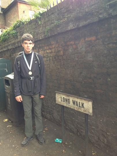 Our Young Ambassador, Tom, is walking a marathon for No5!
