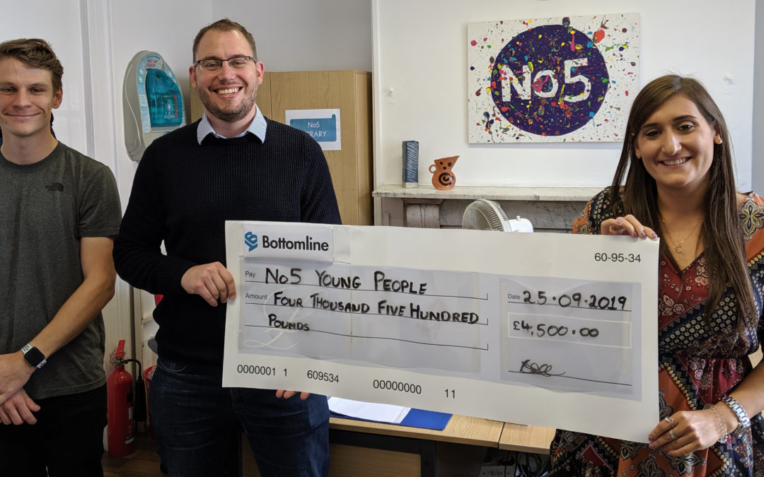 No5 Young People benefit from Bottomline's donation to support mental health